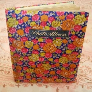 Vintage Photo Album. Floral. Retro. Flowers
